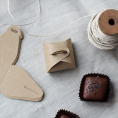 for packaging small treats you make, mini boxes! available through mignon kitchen co.