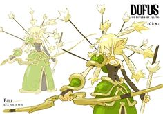 Dofus - Character Designs for Return of Julith (Cancelled) by Bill Otomo