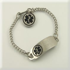 Traditional Stainless Medical Bracelet http://www.designs-by-diana.com/
