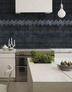 Papier peint à motif / classique / lavable SHIBORI by Christian Benini Wall&Deco