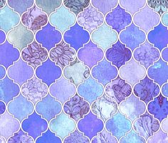 Purple and Lilac Decorative Moroccan Tiles fabric by micklyn on Spoonflower - custom fabric