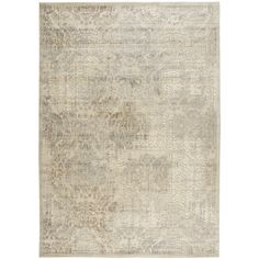 Graphic Illusions Collection Area Rug in Sublime Ivory design by Nourison featuring polyvore, home, rugs, cream colored area rugs, beige rugs, contemporary rugs, ivory rugs and damask rugs