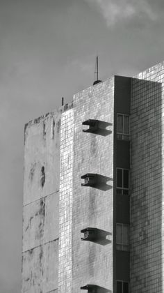 Prédio, Building, Black, White, Grey, Sky, Photo, Photography, Preto, Branco, Cinza, Céu, Foto, Fotografia