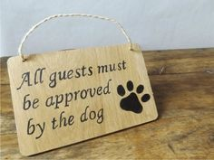 dog approval sign