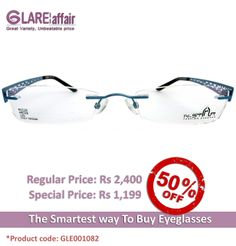 GLAREAFFAIR N-STAR N1110 Blue EYEGLASSES http://www.glareaffair.com/eyeglasses/glareaffair-n-star-n1110-blue-eyeglasses.html  Brand : N-STAR  Regular Price: Rs2,400 Special Price: Rs1,199  Discount : Rs1,201 (50%)