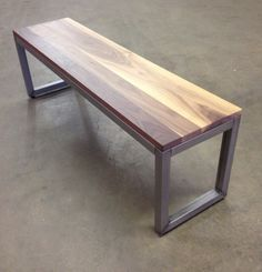 Edge Dining Bench  Shown in 14x54 Walnut by MapleCityFurniture, $288.00