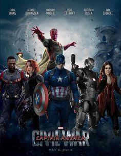 Fan poster of Civil war. Captain America Movie, Captain America Civil War, New Avengers, Avengers Movies, Dc Movies, Comic Movies, Marvel Films, Marvel Heroes, Marvel Fan