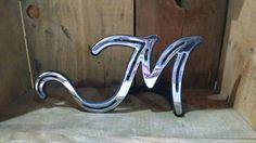 Custom Monogram Horseshoe Letters - My Great Pins Horseshoe Letters, Horseshoe Projects, Horseshoe Crafts, Horseshoe Art, Metal Projects, Welding Projects, Monogram Letters, Welding Ideas, Metal Crafts