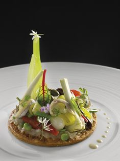 Salad Presentation, Michelin Star Food, Food Sculpture, Culinary Arts, Food Plating, Creative Food, Food Photo, Food Pictures, Food Inspiration