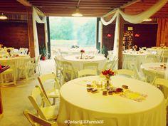 Barn Hall Reception - Cedar Hill Farm - Hernando,MS - www.gocedarhillfarm.com