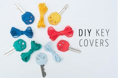 DIY: Yarn Wrapped Key Covers