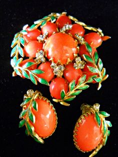 Hattie Carnegie Brooch & Earrings