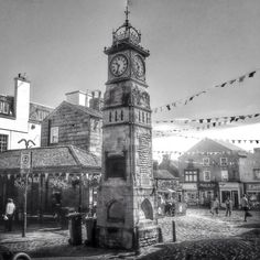 So here's Otley Clock Yorkshire. The Jubilee Clock erected in 1888 to mark the Golden Jubilee of Queen Victoria. The clock tower was designed by Alfred Marshall and built by Mr W. The total cost of the clock and tower was Old Pictures, Old Photos, Yorkshire Day, Total Cost, Marshalls, Back In Time, Queen Victoria, Where The Heart Is