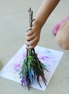 Make Natural Paintbrushes for Kids Art