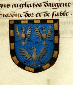 Noms, armes et blasons des chevaliers de la Table Ronde France, ca. 1500