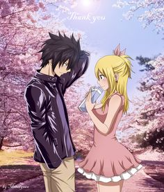 Thank You (Lucy & Gray: Fairy Tail)  by Milady666.deviantart.com on @deviantART