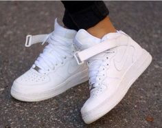 """NIKE - Air Force - perfect, white forces """"Crisp"""" <3 aint nothing like a fresh pair of forces!"""