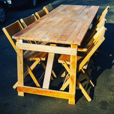 Our new made tables from a reclaimed old school floor! New table #table #banqueting #maple #trestle #hire #wood #vintage #rustic #reclaimed #weddinghire #box #crate #vintage #wedding #hire #table #chair #rustic #decorations #props #bar #barhire #beer #weddinghire