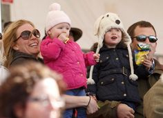 Peter and Autumn Phillips with their daughters Isla and Savannah , May 4, 2013 | The Royal Hats Blog