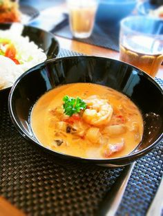 Let's try to make Addictive Tomato Cream Stew with Shrimp in our home! Soup Recipes, Dessert Recipes, Cooking Recipes, My Favorite Food, Favorite Recipes, Asian Recipes, Ethnic Recipes, Happy Foods, Soup And Salad