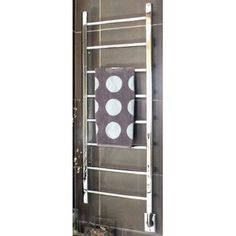 "Artos Ryton Towel Warmer Finish: Polished Nickel, Size: 69"" H x 24"" W, Type: Hardwired"