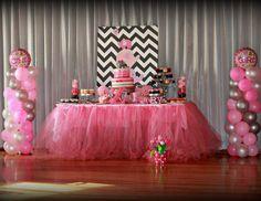 Pink and Grey Elephant Baby Shower - Elephants