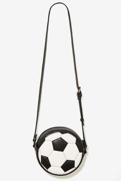 Nasty Gal x Nila Anthony Let's Kick It Vegan Leather Crossbody Bag |||  #soccer look