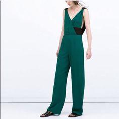 Zara Emerald Green Jumpsuit Xs