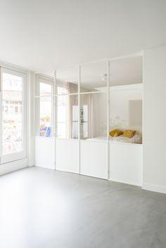 Room Deviders, Door Design, House Design, Living Room Decor, Living Spaces, Interior Architecture, Interior Design, Studio Apartment Decorating, Interior Windows