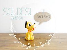 50 OFF  Vintage squeak rubber toy  Pluto  by PetitBonheurTralala, €6.00