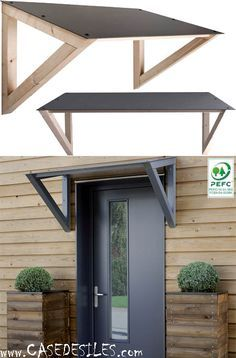 Auvent porte fenetre bois composite 447 Pas Cher Plus & Door Canopy Plans | Flat Roof Canopy | offgrid | Pinterest | Door ...