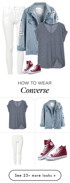 """Sin título #5238"" by xoxominyeol on Polyvore featuring Mother, Violeta by Mango and Converse"