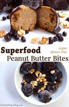 Superfood Peanut Butter Bites • Healthy Helper
