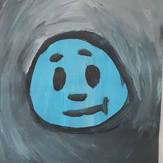 #smiley #blue #painting #acryl #face Blue Painting, Smiley, Images, Photo And Video, Drawings, Face, Pictures, Instagram, Free Time