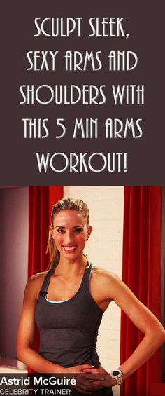 Sculpt sleek, sexy arms and shoulders with this 5 MIN ARMS WORKOUT! #armworkout #shoulderworkout #sexyarms