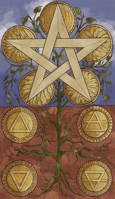 9 d'écus - Universal Wirth Tarot par Giordano Berti & Stefano Palumbo