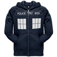 Doctor Who – Tardis Zip Hoodie