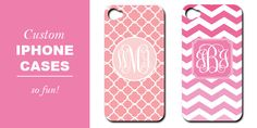 Monogrammed iPhone cases by For Chic Sake!