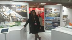 Our Head of Marketing at our stand at #MAPIC2014 #Cannes #Nice #retail #architecture #travel #architects