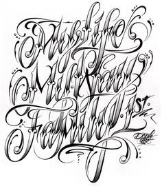 tattoo chicano lettering fonts - Pesquisa Google