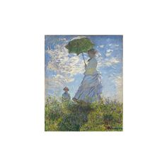 Woman with a Parasol - Madame Monet and Her Son, 1875 Giclee Print... ($39) ❤ liked on Polyvore featuring home, home decor, wall art, coit tower collection, collections, fine art collections, subjects, giclee poster and giclee wall art