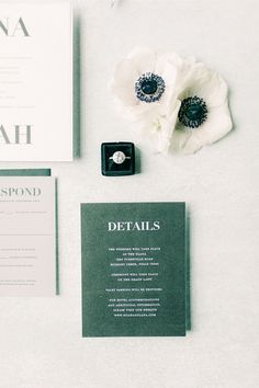 "From the editorial ""You Just Have To See This Unique Way To Display Your Seating Chart!"" Today's wedding consists of an emerald green color palette with vintage black and white details that we guarantee you'll be swooning over. ✨ LBB Photographer: @bransonmaxwell.photo Stationery: @lyonspaperie #greenwedding #greenweddinginvitations #greenweddingcard #weddingstaionery Original Wedding Invitations, Green Wedding Invitations, Affordable Wedding Invitations, Wedding Invitation Inspiration, Wedding Stationery, Wedding Inspiration, Green Colour Palette, Green Colors, Green Wedding Decorations"