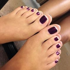Image may contain: 1 person, shoes and closeup Pretty Toe Nails, Cute Toe Nails, Sexy Nails, Sexy Toes, Pretty Toes, Purple Toes, Purple Hair, Purple Toe Nails, White Spots On Nails