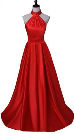 The red ball gown was a formal evening