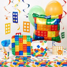 Building Block Deluxe Party Pack, Multicolor