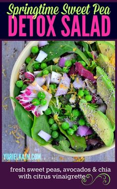 Avocado Sweet Pea Detox Salad