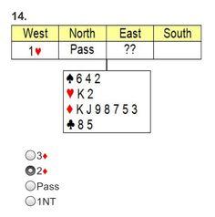 BIDDING - Test your ACOL Bridge Knowledge of Responding to Opening Bids: Question 14 of 20 (bridgequiz.co.uk)