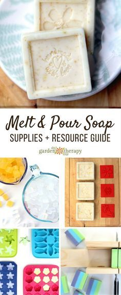 A comprehensive guide to selecting and finding melt and pour soap supplies for home soapmaking projects from the melt and pour idea book, Good Clean Fun.