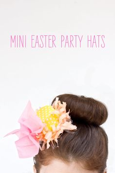 Mini Easter Party Hats {Kelly Lanza of Studio DIY for Shop Sweet Lulu} Perfect for little girls tea party craft!!