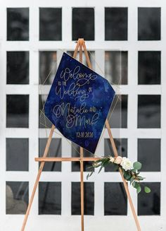 Wedding Welcome Sign Clear Acrylic Glass Look Welcome Sign, Cosmic Celestial Watercolor pace Night Sky Stars Wedding Sign (Item - Night Sky Stars, Night Skies, Wedding Designs, Wedding Ideas, Wedding Trends, Wedding Styles, Wedding Stuff, Glitter Table Numbers, Mr Mrs Sign